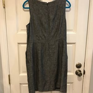 Banana Republic Dresses - Banana Republic Black Gray Sheath Dress Linen 14